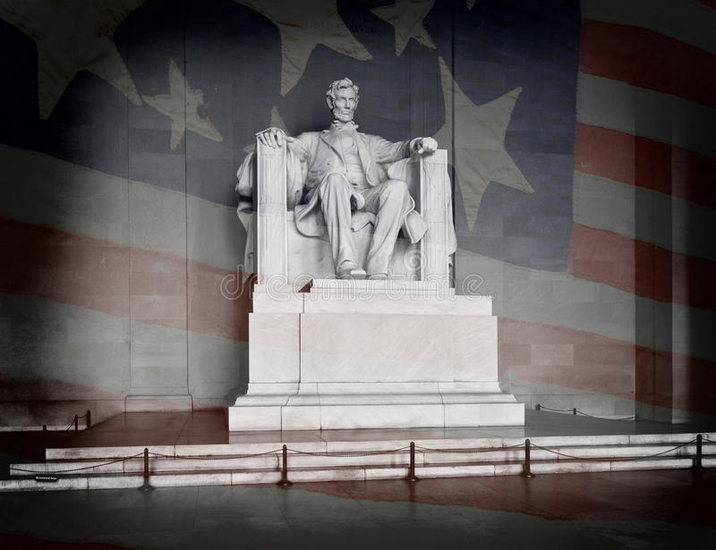 Lincoln Memorial. Statue of Abraham Lincoln at the Lincoln Memorial in Washington DC royalty free stock photos