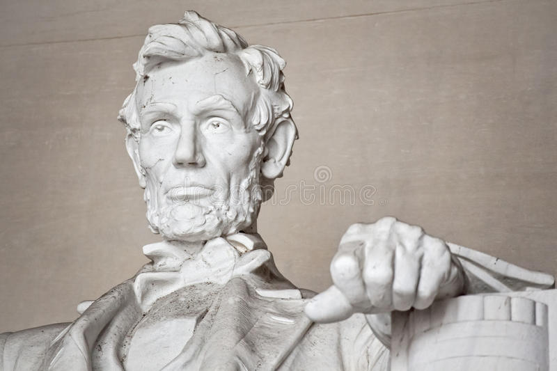 Lincoln Memorial Statue. Close up of the statue of Abraham Lincoln in the Lincoln Memorial in Washington DC stock photography