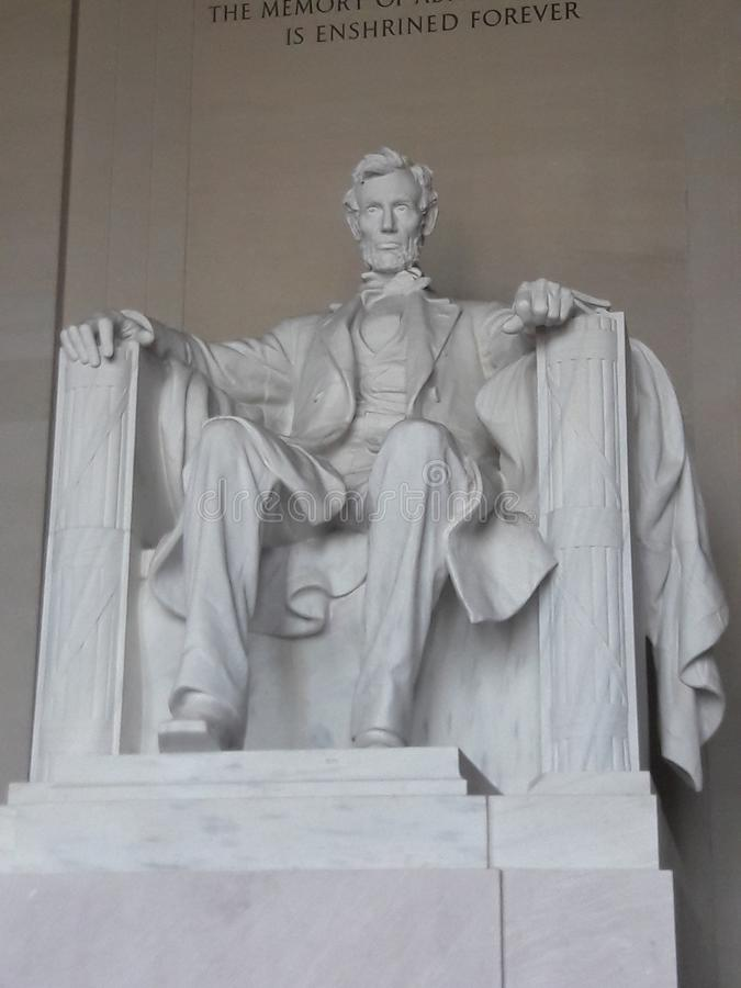 Lincoln Memorial statue Washington D.C. Capitol royalty free stock images