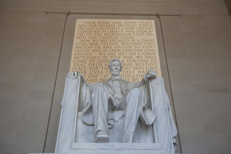 Lincoln memorial. Staue and Gettysburgh Address royalty free stock image