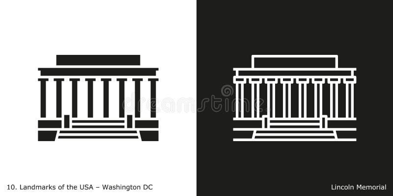 Lincoln Memorial symbol stock illustrationer