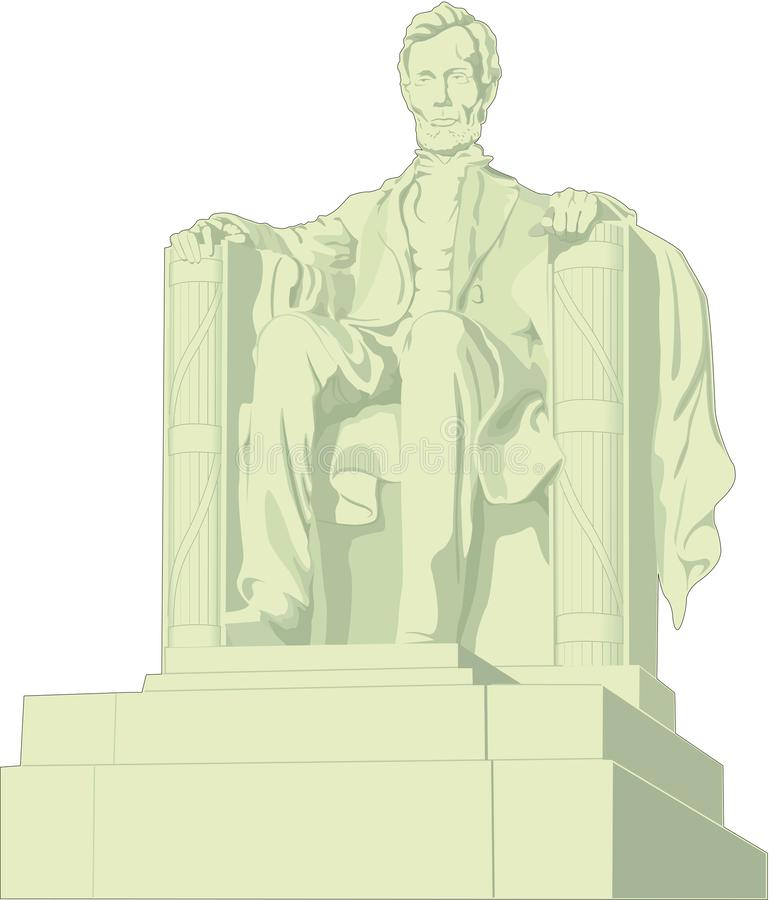 Lincoln Memorial Vector Illustration vector illustratie