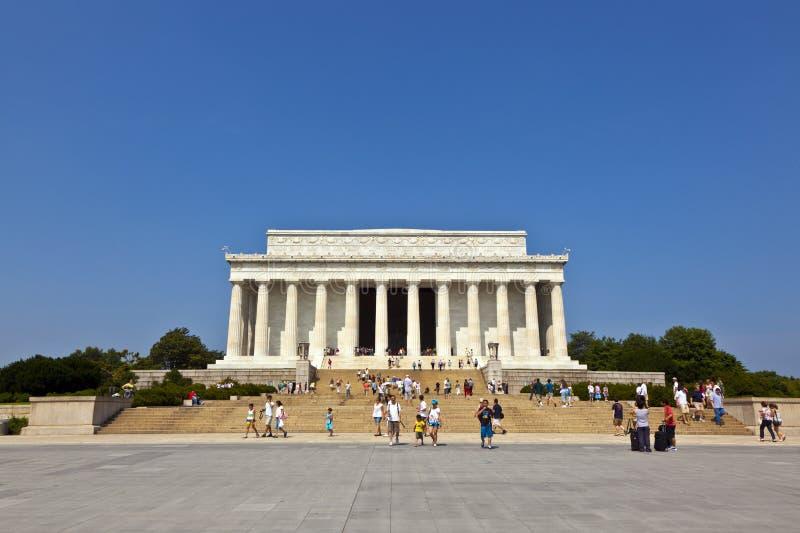 Lincoln Memorial in Washington D.C. stock afbeeldingen