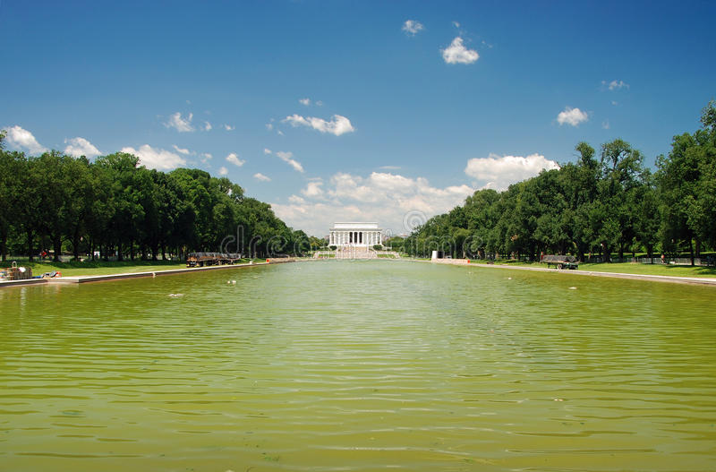 Lincoln Memorial in Washington DC. View of Lincoln Memorial in Washington DC. Dedicated to president Abraham Lincoln who helped to bring the end of slavery in royalty free stock images