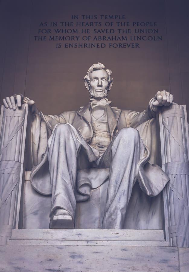 Lincoln minnes- monument i Washington royaltyfria bilder