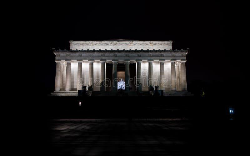 Lincoln minnesmärke royaltyfria bilder