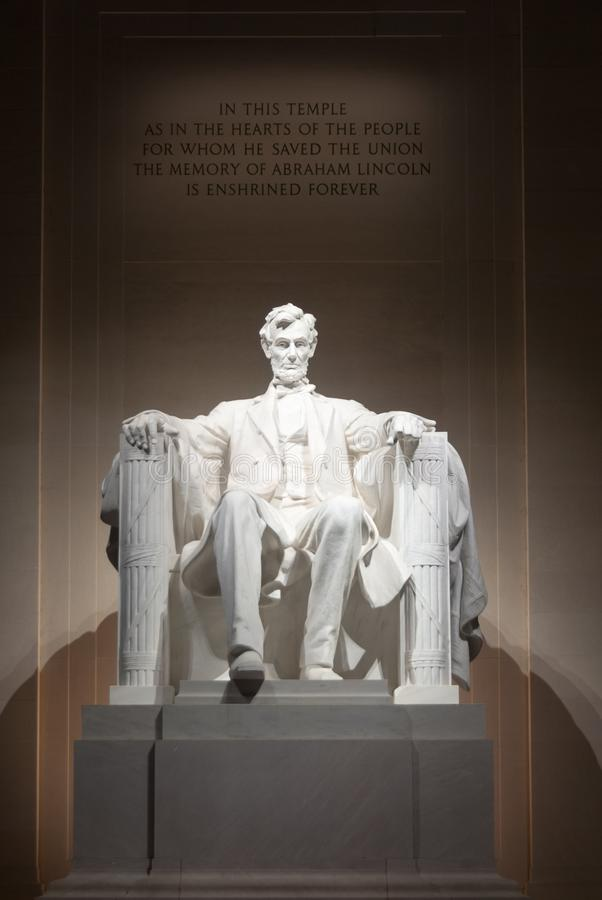 Lincoln Monument - Washington DC. Lincoln Monument in Washington DC at night stock images