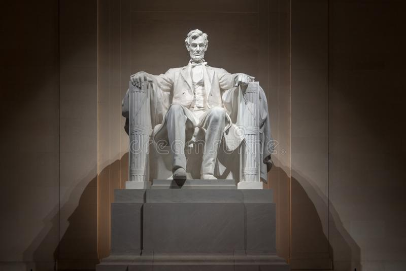 Lincoln Monument - Washington DC. Lincoln Monument in Washington DC at night stock image