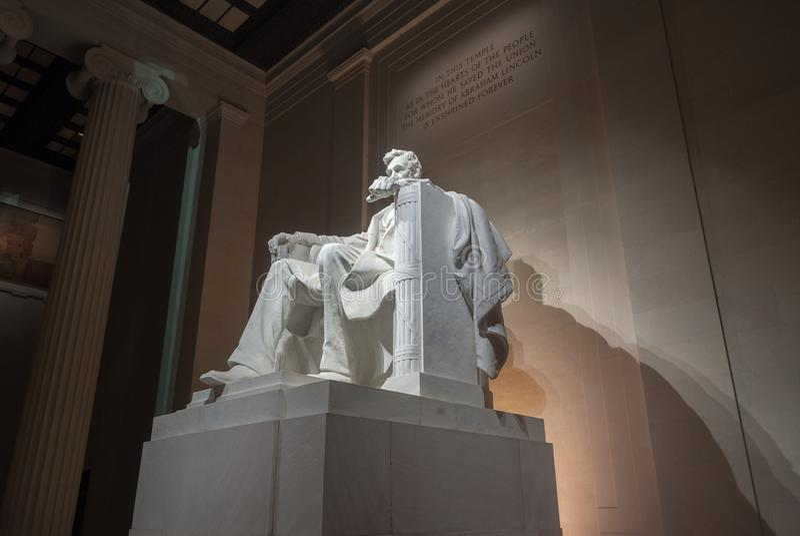 Lincoln Monument - Washington DC. Lincoln Monument in Washington DC at night stock photos