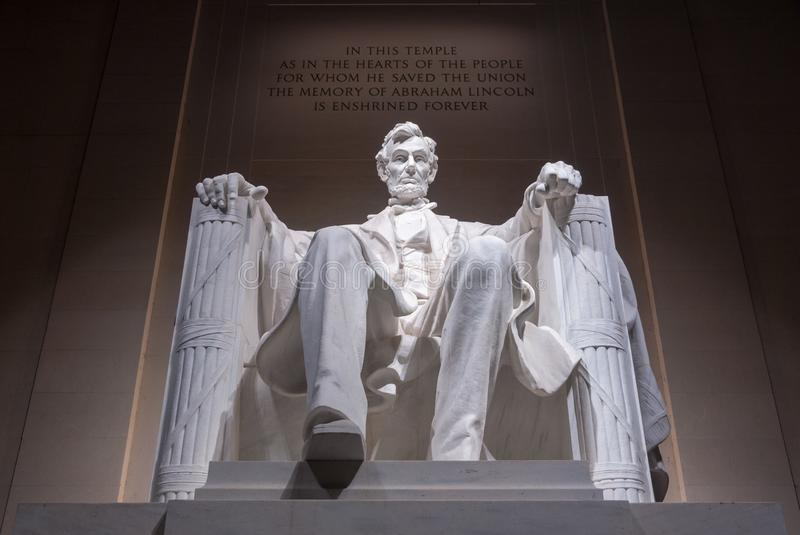 Lincoln Monument - Washington DC. Lincoln Monument in Washington DC at night royalty free stock image