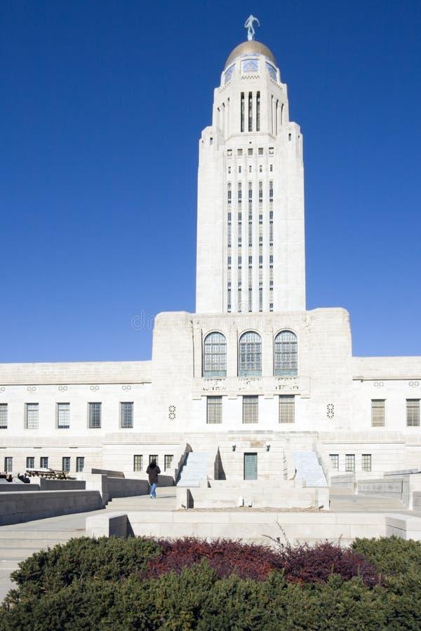 Lincoln, Nebraska - het Capitool van de Staat stock afbeelding