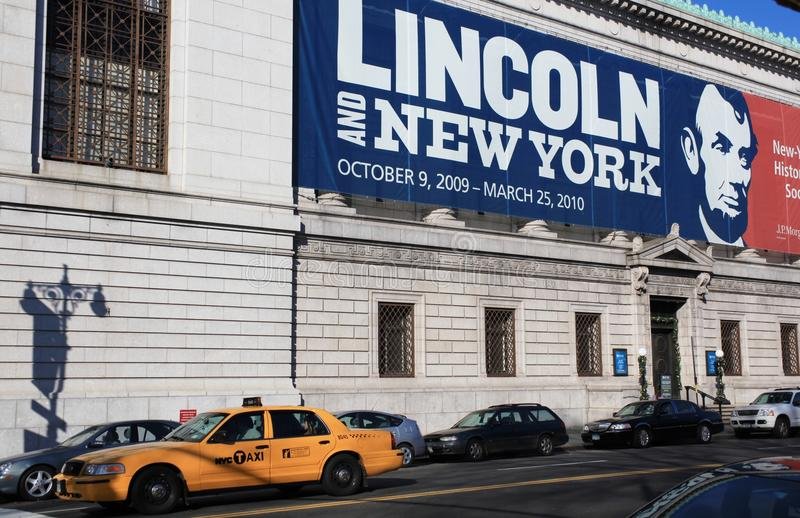 Lincoln and New York stock image