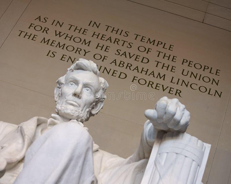 Lincoln opuścił rękę zdjęcia stock