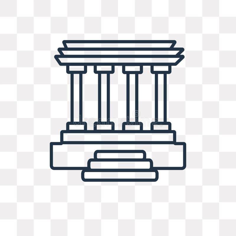 Lincoln pamiątkowa wektorowa ikona odizolowywająca na przejrzystym tle, royalty ilustracja