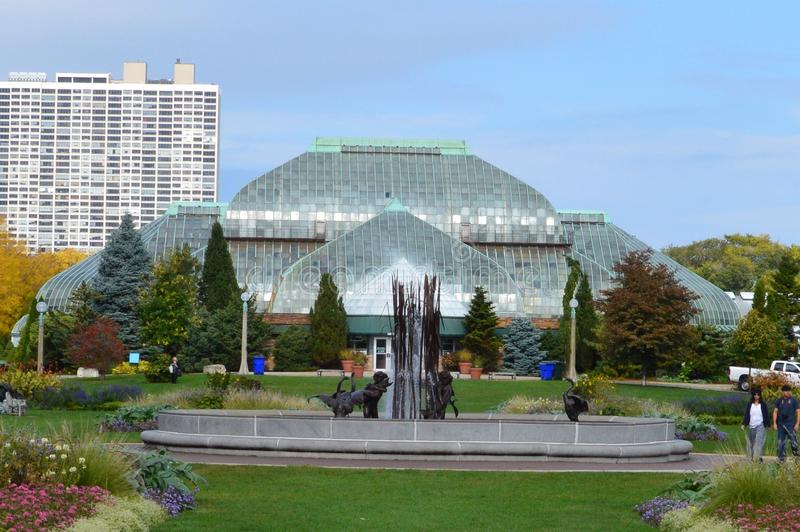 Lincoln Park Conservatory fotografia stock libera da diritti