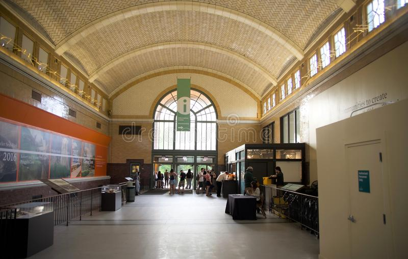 Lincoln Park Zoo Information Center Interior, Chicago, Illinois stock photo