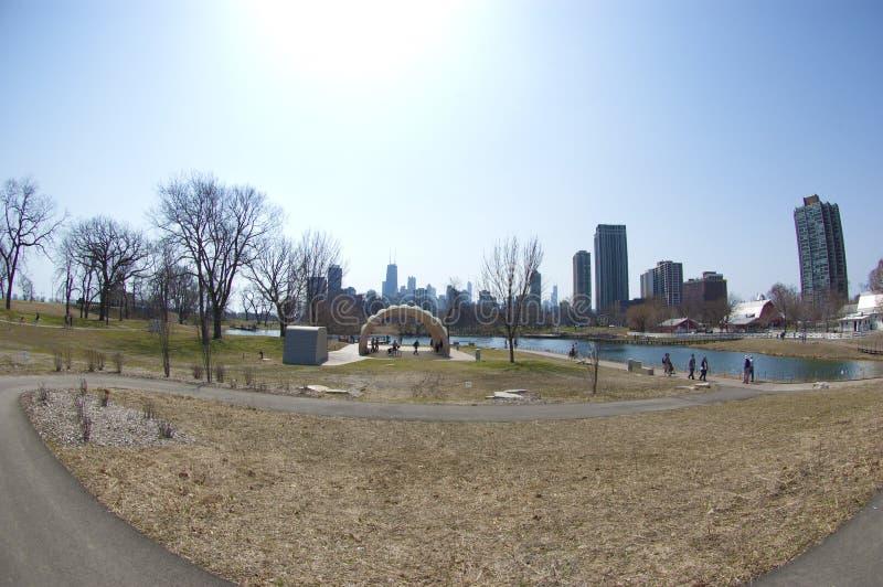 Lincoln-Park-Zoo-Natur-Promenade lizenzfreies stockbild