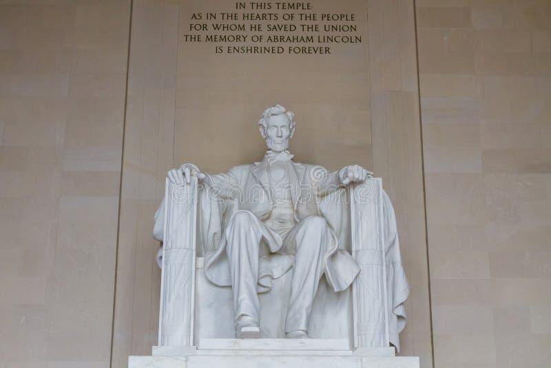 Lincoln pomnik obraz royalty free