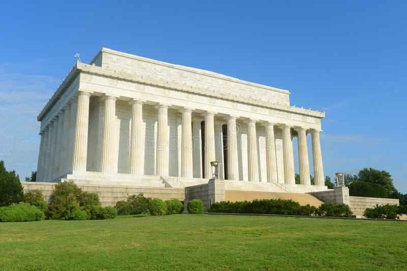 Lincoln pomnik w washington dc, usa obrazy royalty free