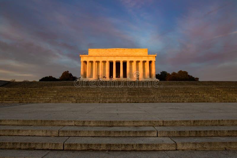 Lincoln pomnika wschód słońca zdjęcia stock