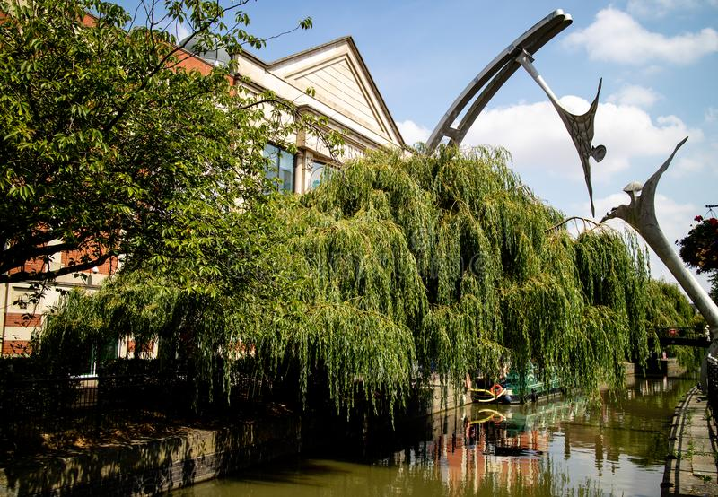 Lincoln, Royaume-Uni - 07/21/2018 : La sculpture en habilitation photographie stock libre de droits
