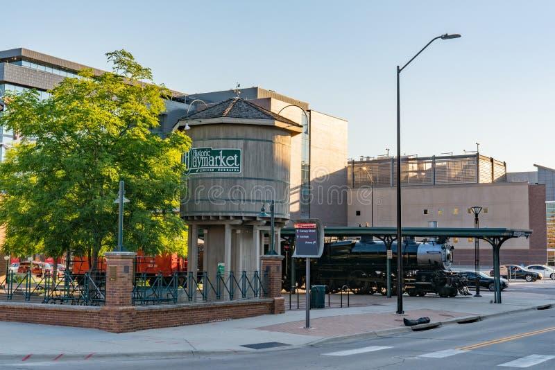 Lincoln, secteur du Nébraska Haymarket photo stock