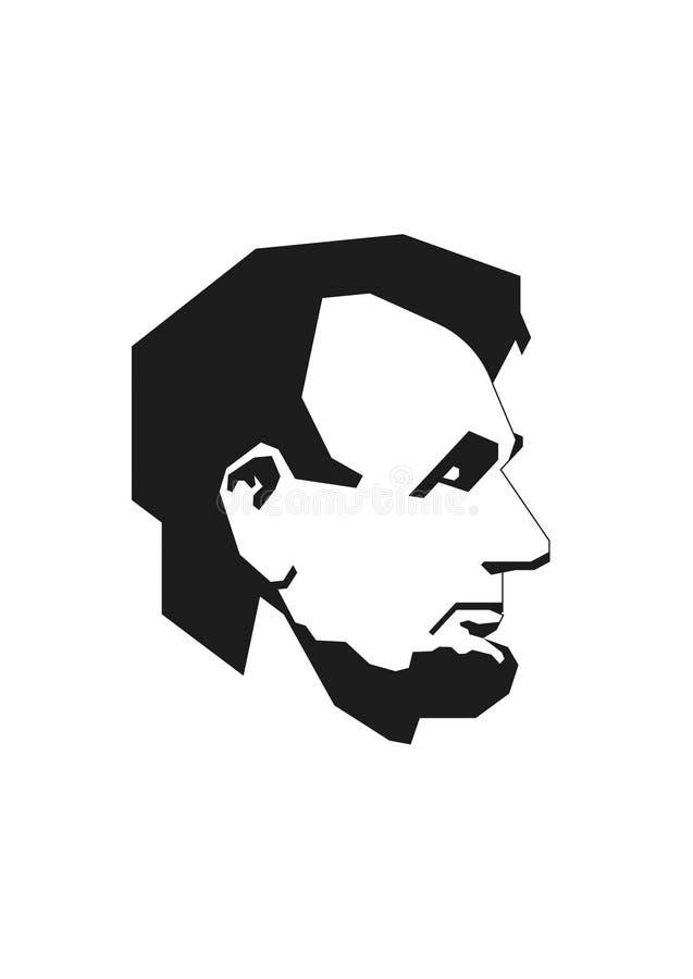 Lincoln simplificada stock de ilustración