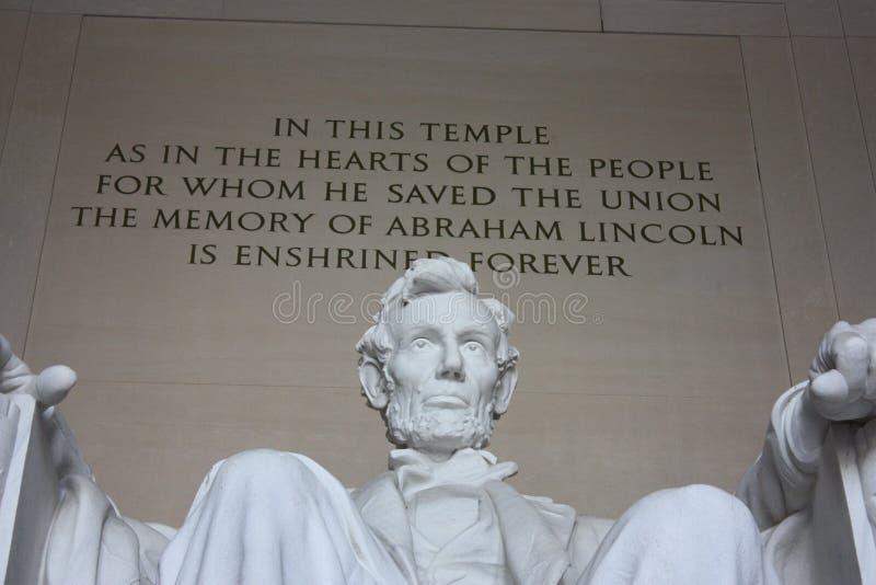 Lincoln Statue royaltyfria bilder