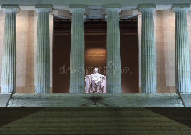 Lincoln Statue Washington DC stock image
