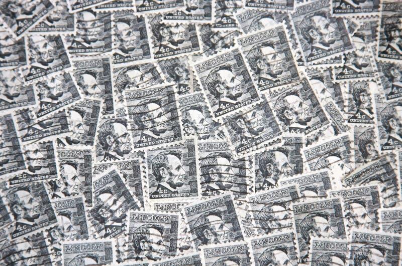 Lincoln-Stempel stockfotografie