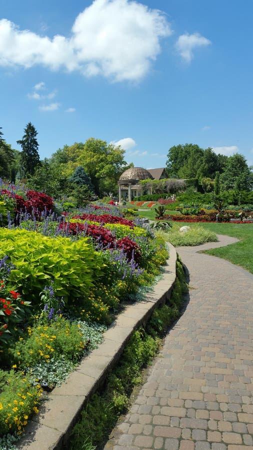 Lincoln Sunken Garden arkivbilder