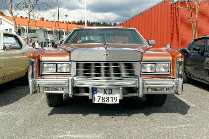 Lincoln Town Car im Braun stockfoto