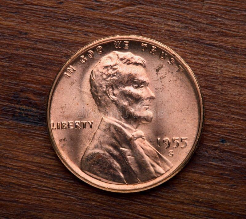 Lincoln un centesimo fotografie stock