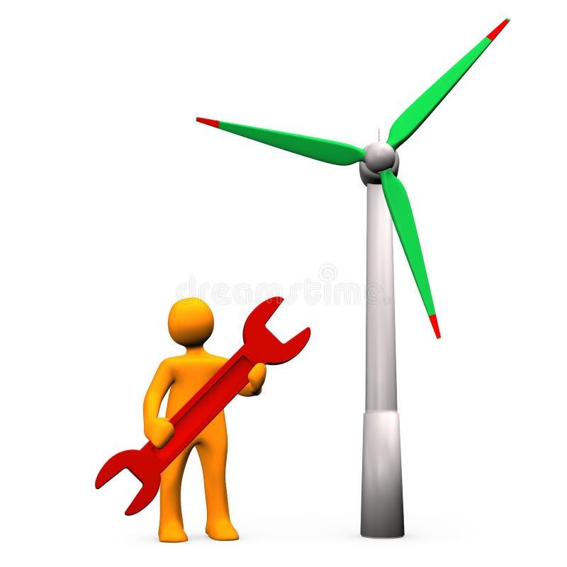 Linda den tjänste- turbinen royaltyfri illustrationer