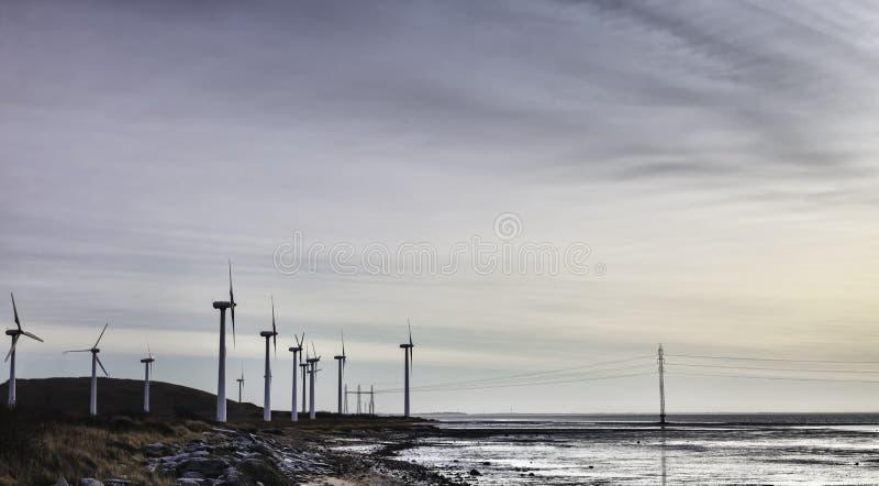 Linda turbinlantgården i det wadden havet, Esbjerg, Danmark royaltyfria bilder