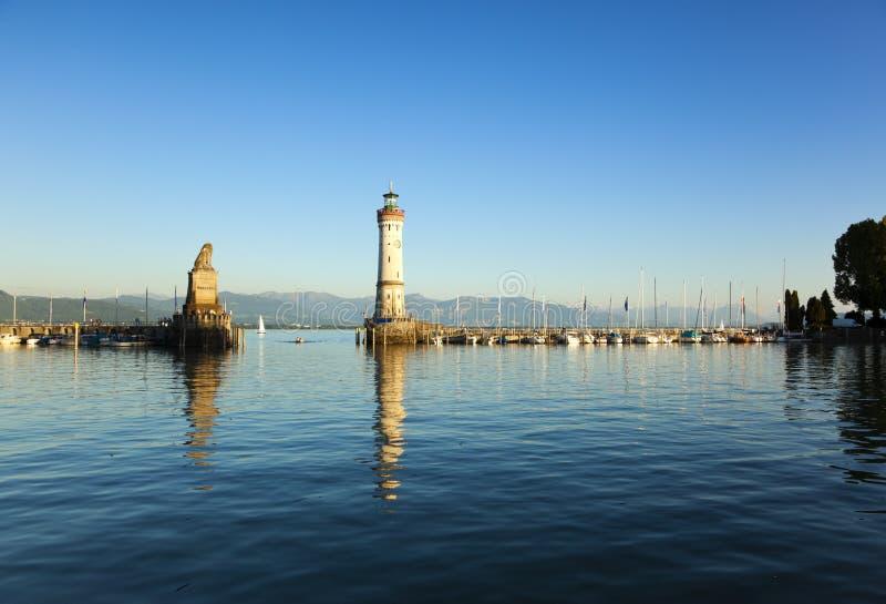 lindau för lake för constanceingångshamn arkivfoton