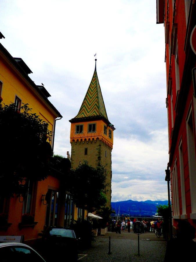 LINDAU/GERMANY, CZERWIEC 24, 2011: Wierza lindau przy Bodensee, Niemcy zdjęcia stock