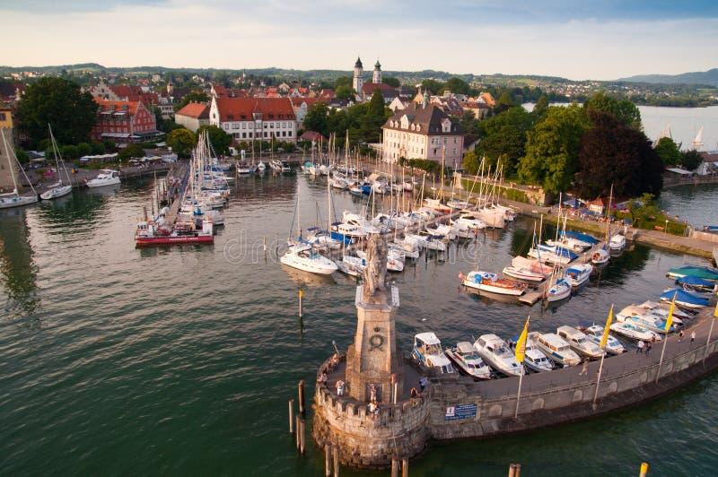 Lindau jeziorem Bodensee obrazy royalty free