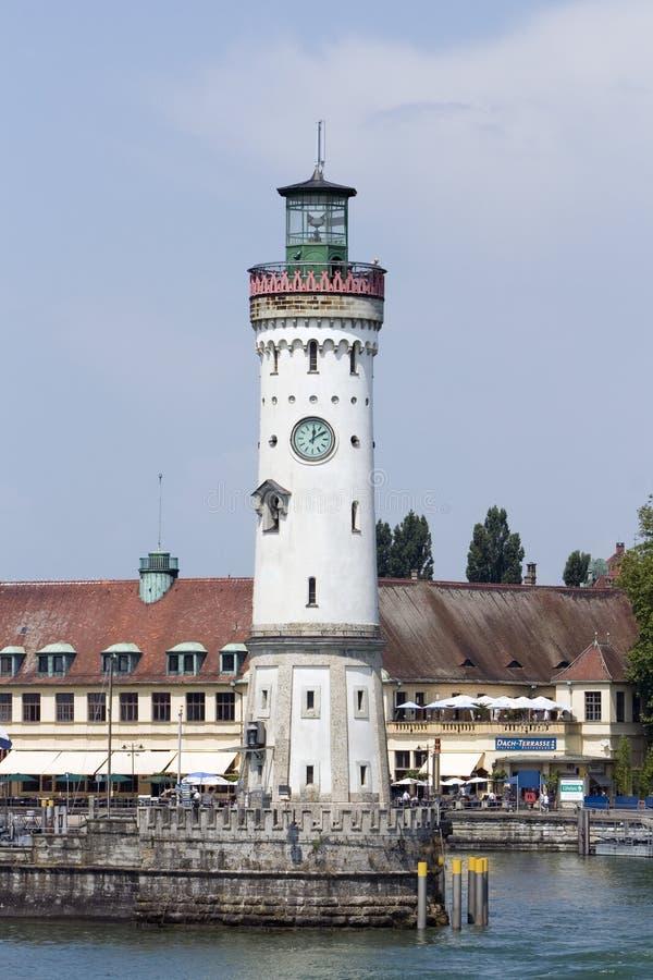 Lindau Leuchtturm stockbild