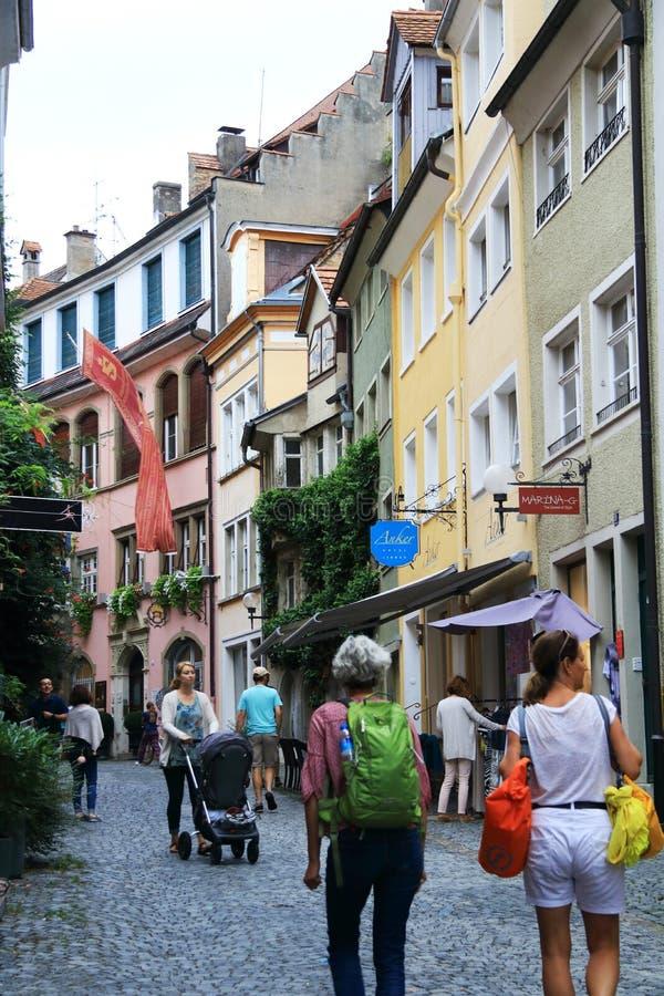 Lindau w Niemcy jest skocznym miasteczkiem z wiele widokami obraz stock