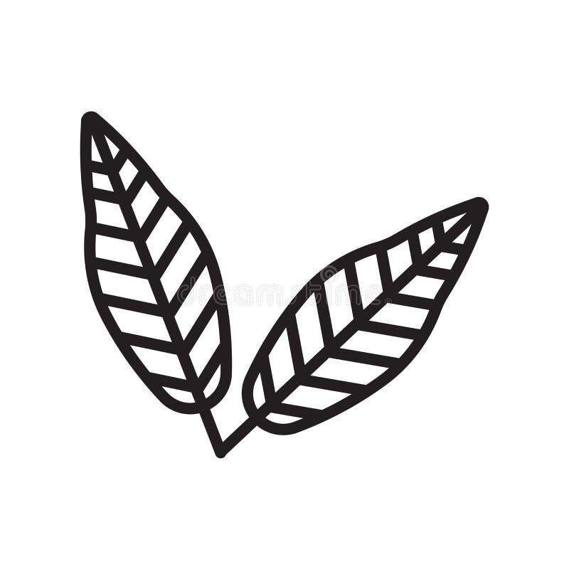 Linden φύλλων σημάδι και σύμβολο εικονιδίων διανυσματικό που απομονώνονται στο άσπρο backgr ελεύθερη απεικόνιση δικαιώματος
