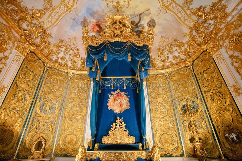 Linderhof宫殿卧室 库存图片