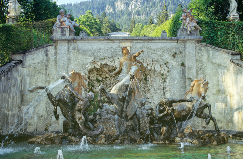 Linderhof castle stock photos