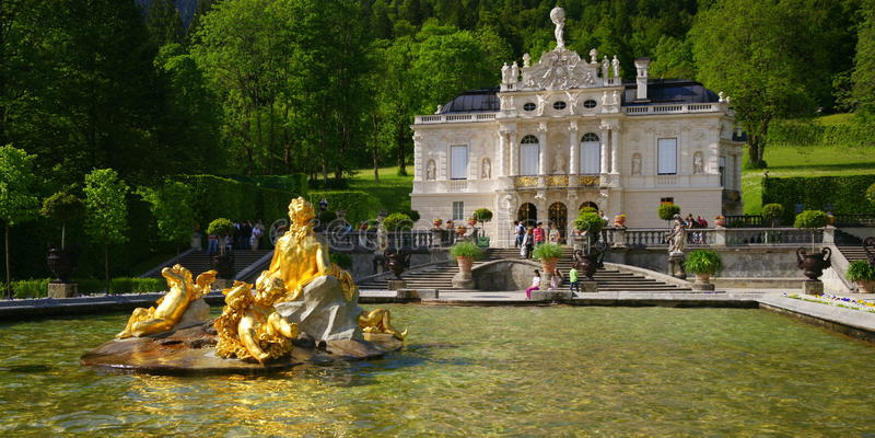 Download Linderhof Palace stock photo. Image of germany, german - 25490120