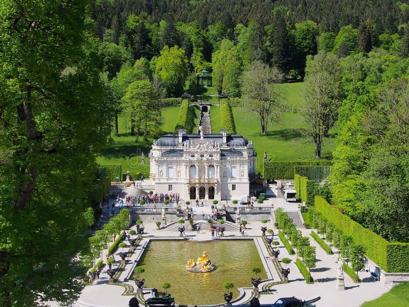 Linderhofpaleis, Beieren, Duitsland royalty-vrije stock foto's