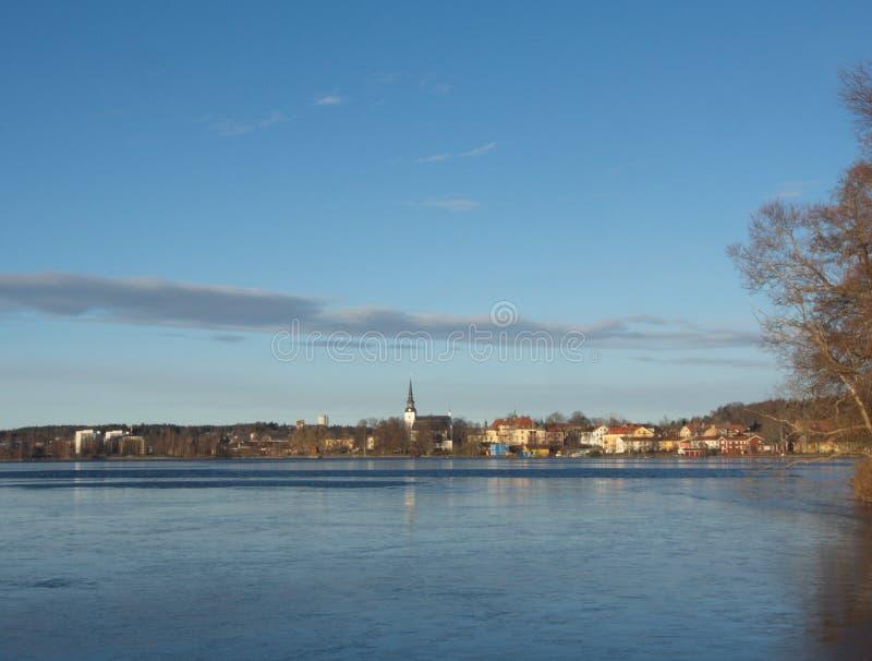 Lindesberg par beau jour images stock