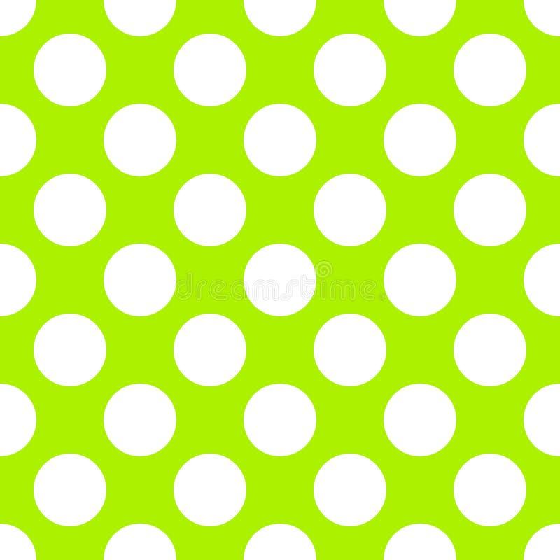 Lindgrüne Polka Dot Seamless Paper Pattern lizenzfreie abbildung