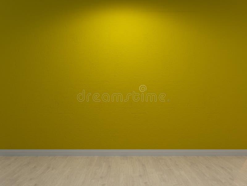Lindgrüne Wand, gemalter Innenhintergrund stock abbildung