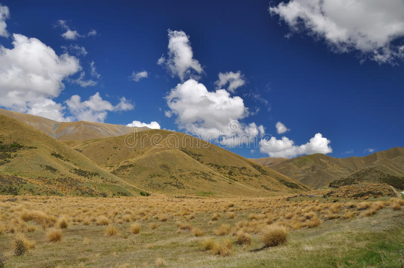 Lindis Pass in New Zealand royalty free stock images