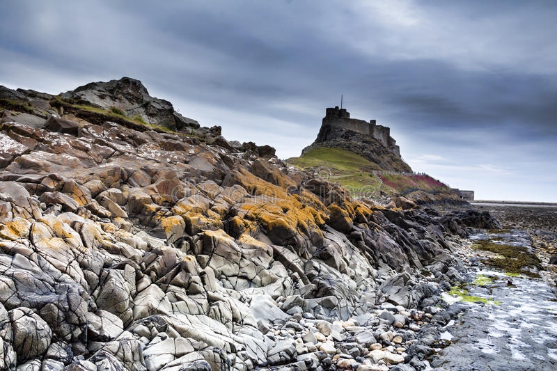 Lindisfarne Castle, holy island royalty free stock images
